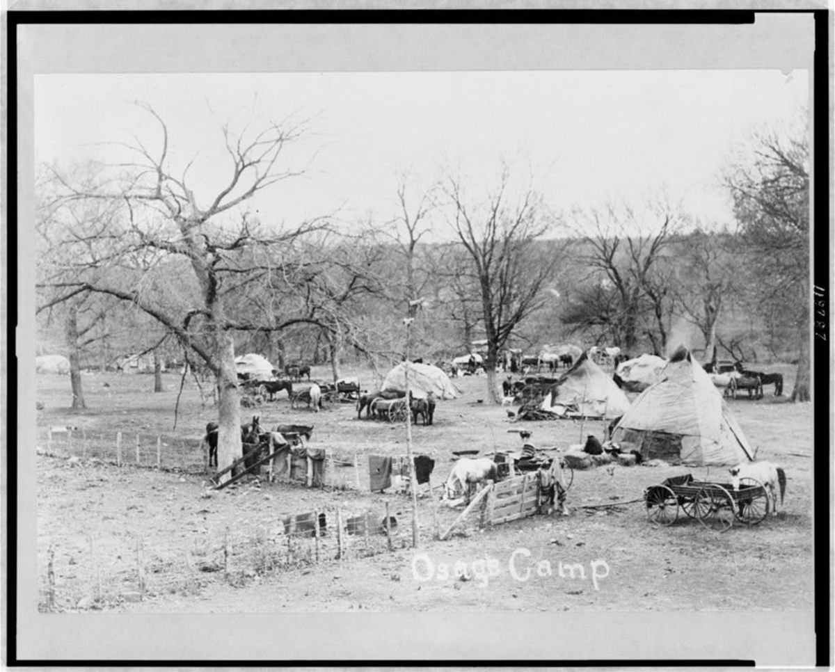 An Osage camp before the oil changed everything.