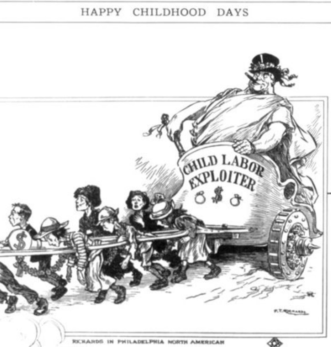 This cartoon by Frederick T. Richards appeared in the Philadelphia North American in 1913.