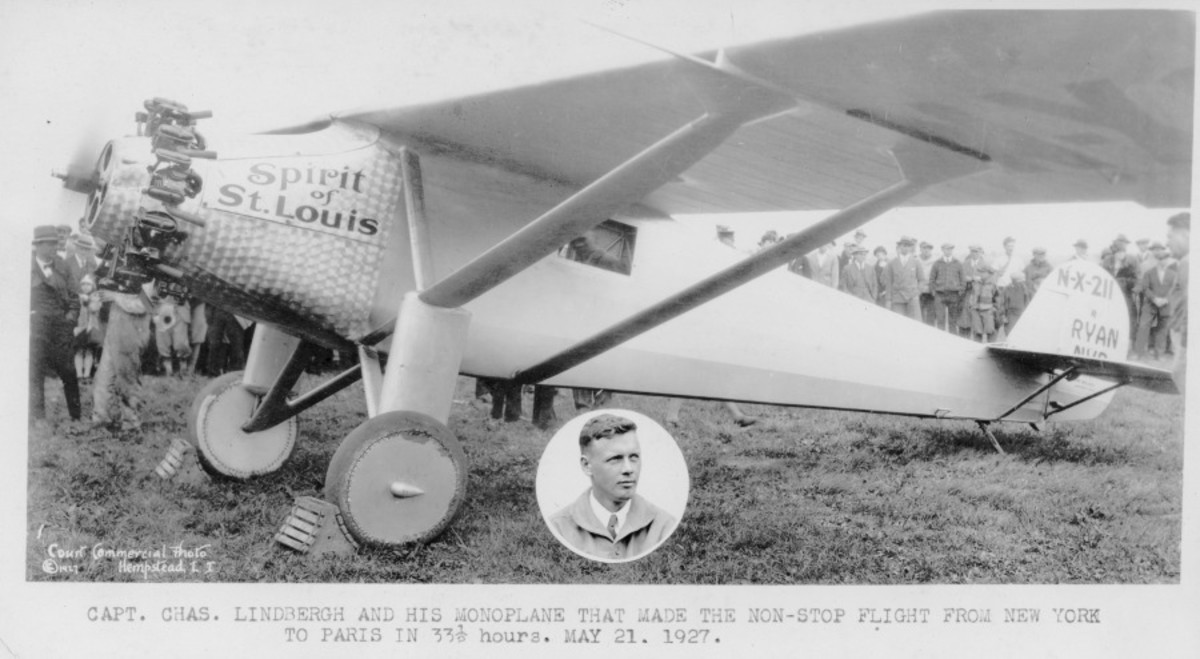 Corrigan worked on the Spirit of St. Louis in preparation for Charles Lindbergh's historic flight.