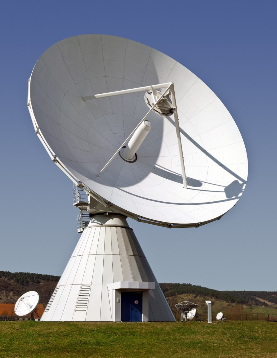 Radar dishes and radio telescopes are parabolic shaped.