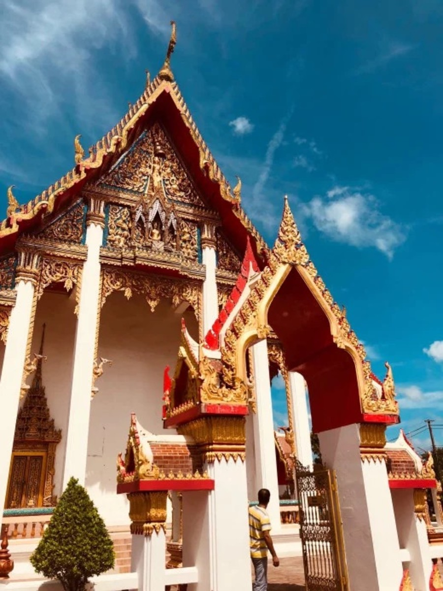 A beautiful temple where monks spend a great deal of time practicing their studies.