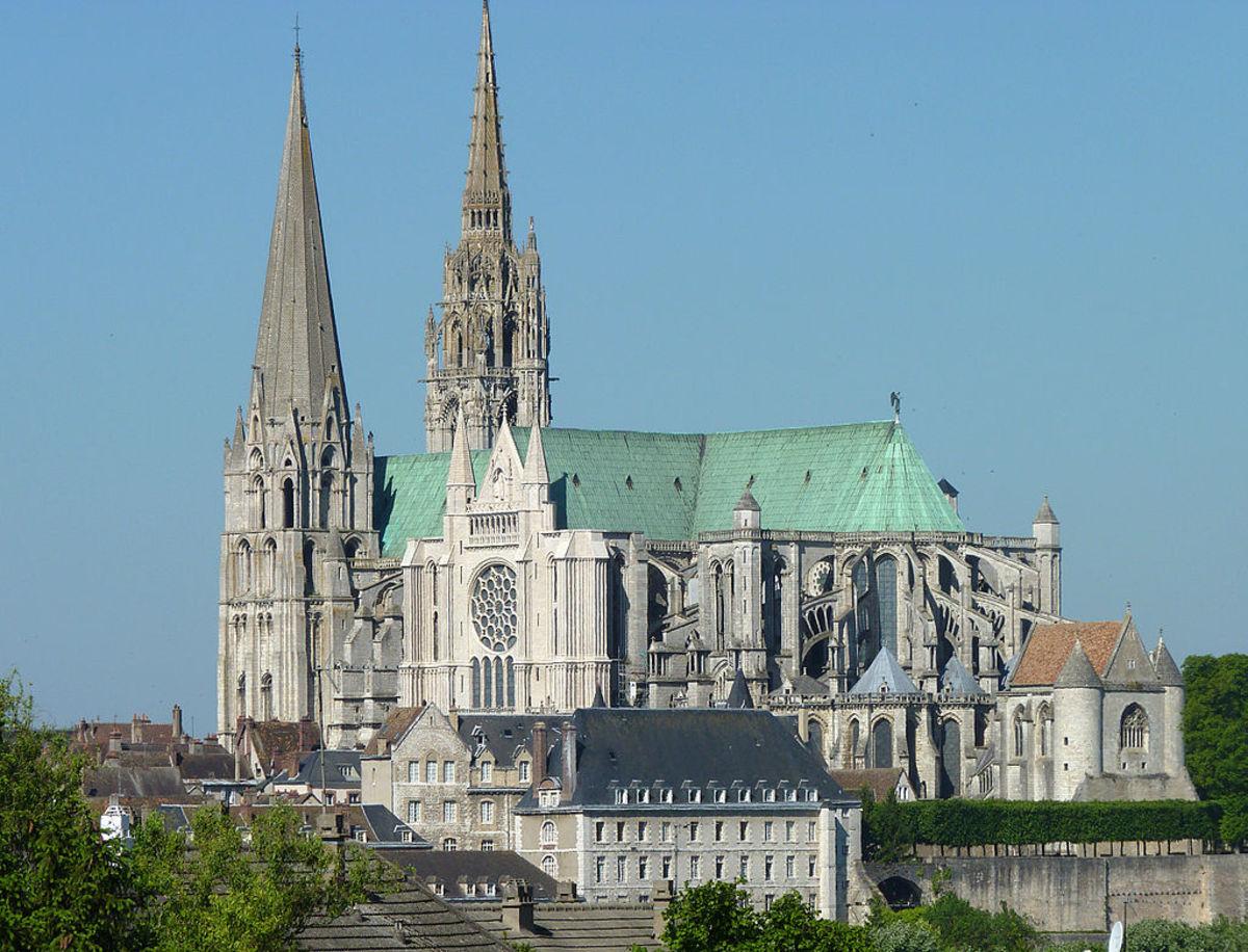 Notre Dame de Chartres, France, displays 12+ sculpted images of Green Man