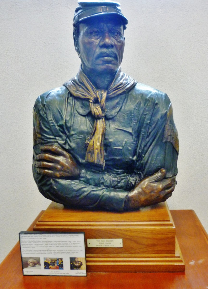 "Bronze bust named ""The Old Soldier"""