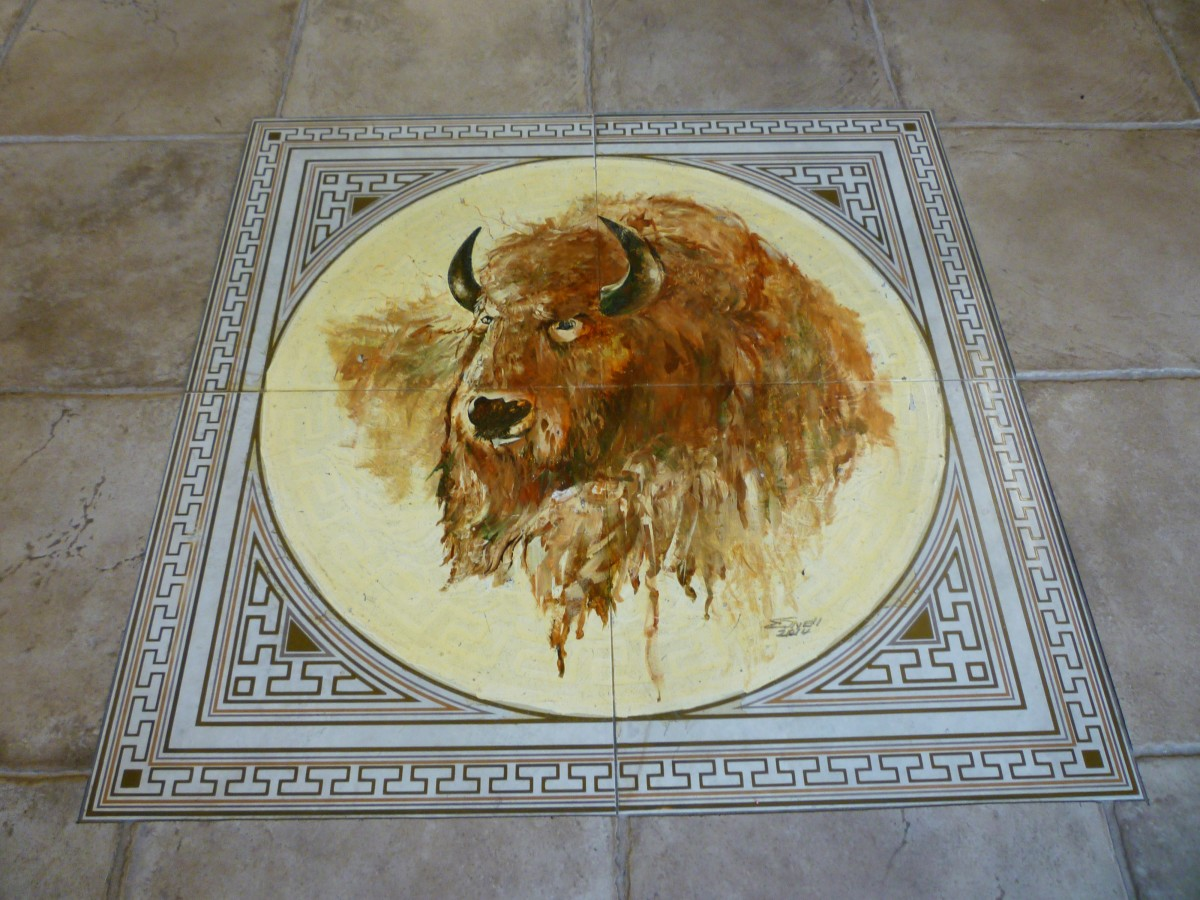 Floor tile in entrance
