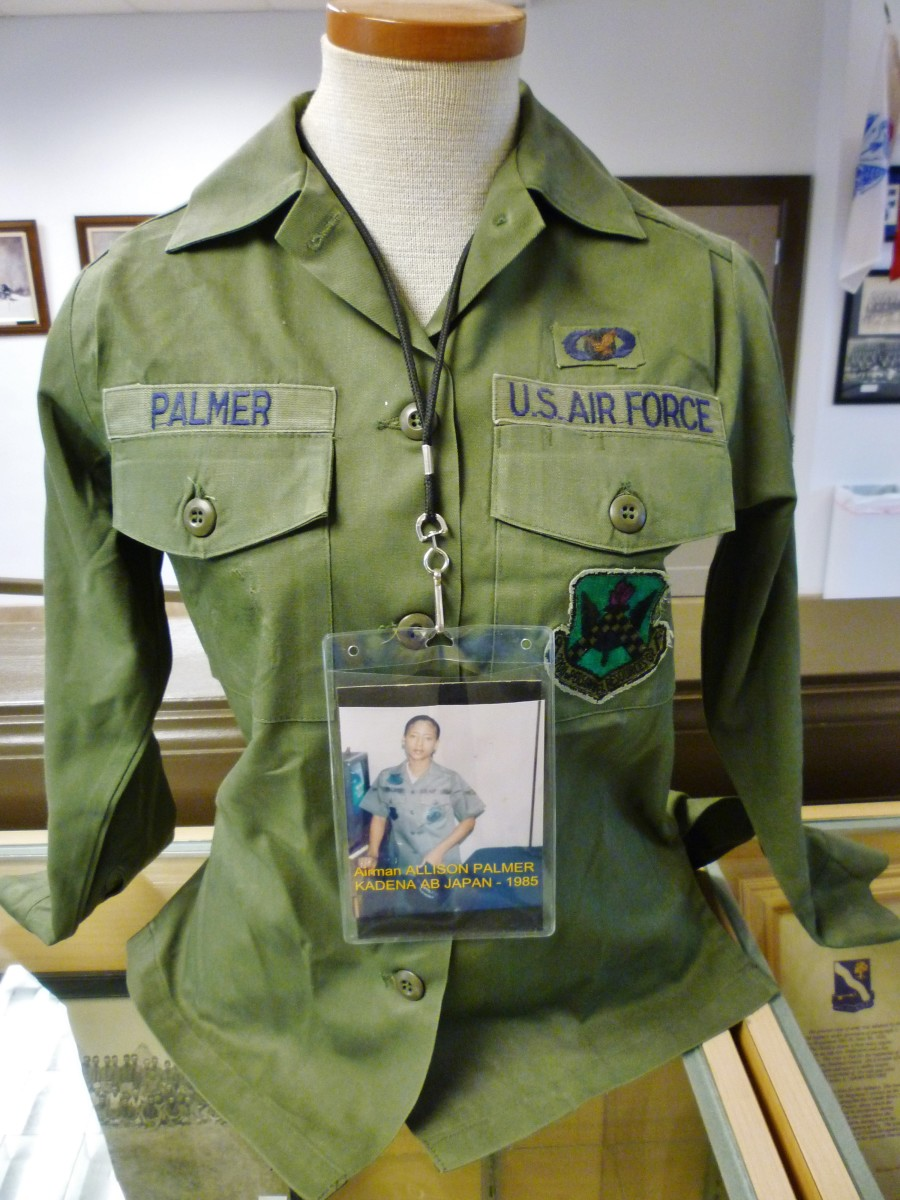 Airman Allison Parker Uniform 1985 at Buffalo Soldier National Museum