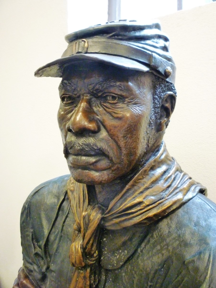 "Closeup of ""The Old Soldier"""