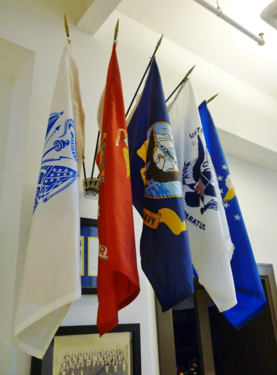 Flags on display