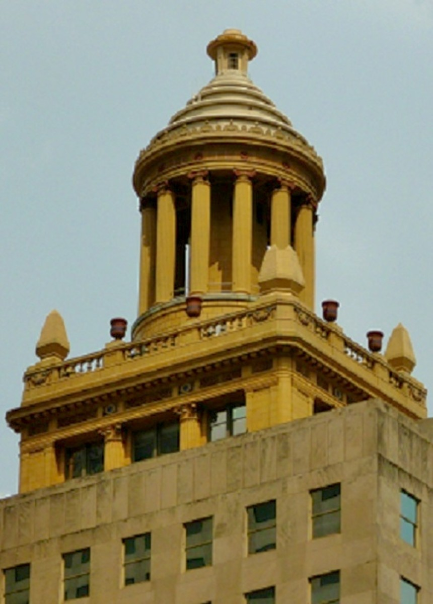 Top of building