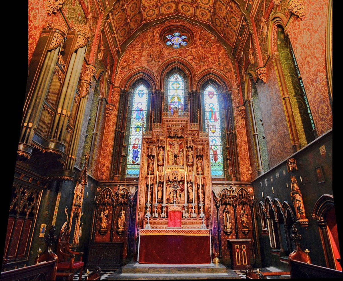 The ornate interior of St. Barnabas.