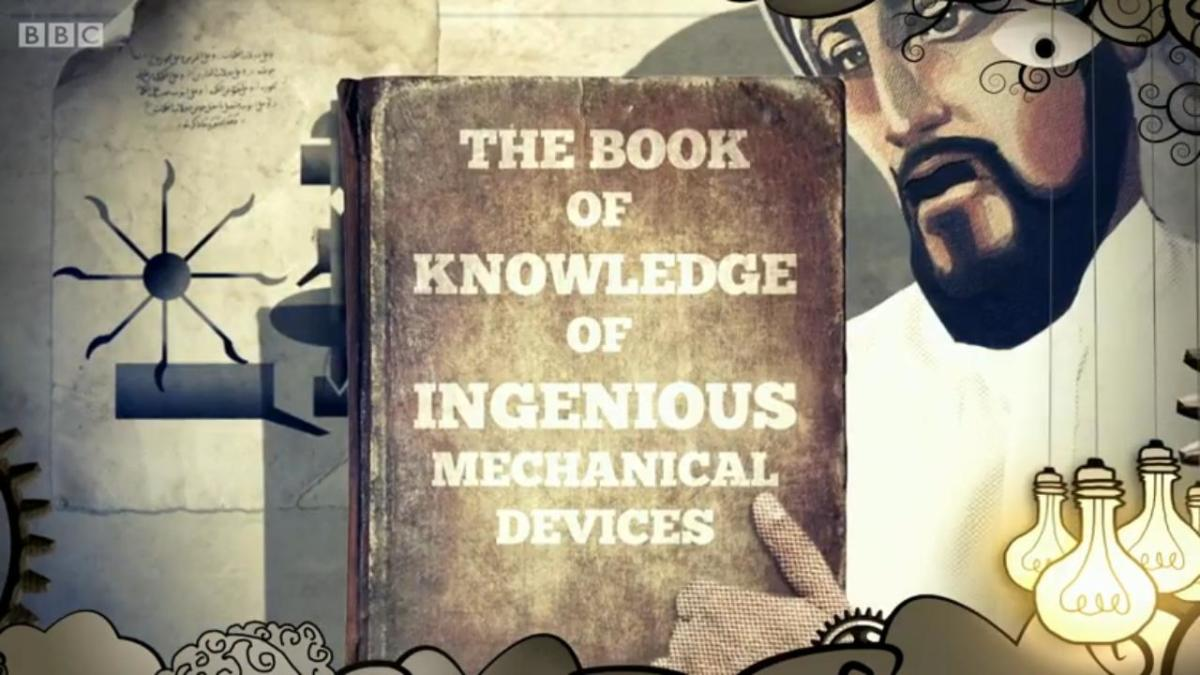 "Al-Jazari and ""The Book of Knowledge of Ingenious Mechanical Devices"" from BBC's Dick and Dom's ""Absolute Genius""."