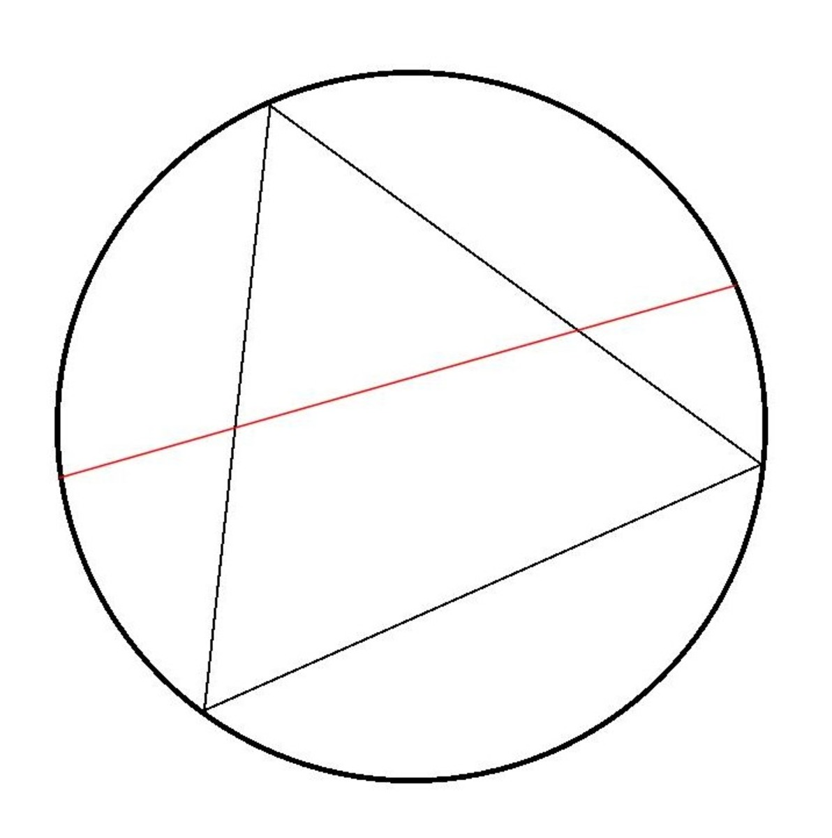 A Circle With an Inscribed Equilateral Triangle and a Chord