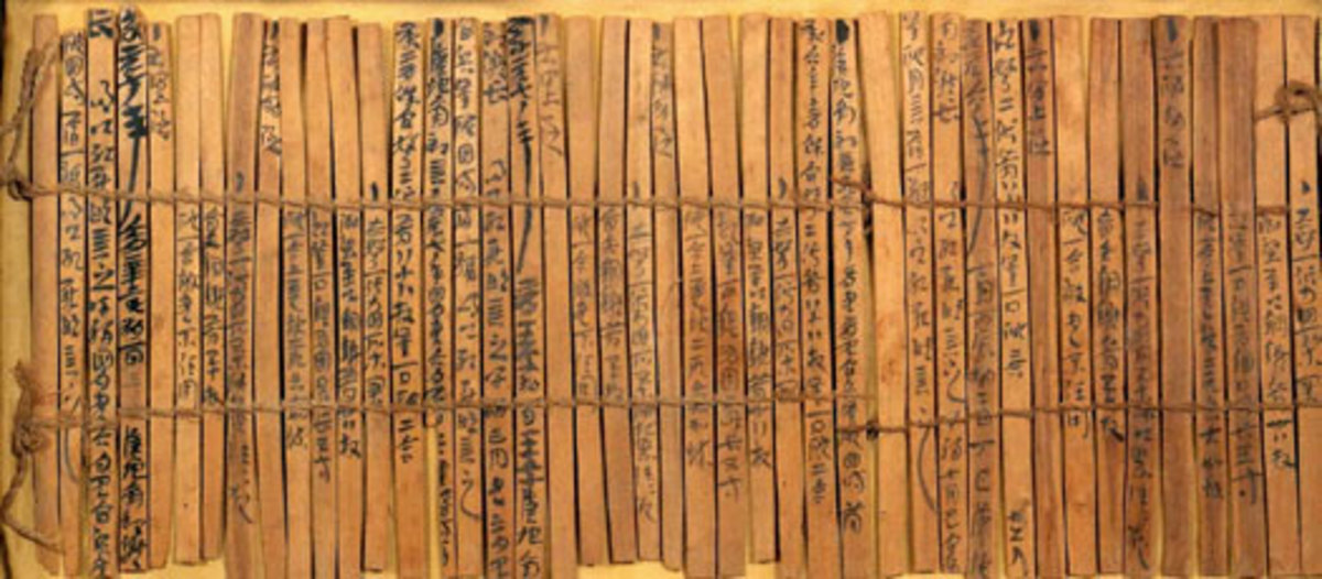 The Bamboo Annals were written down largely during the Warring States era of the fifth to third centuries BC, using slips of bamboo that are now causing the experts a few headaches when it comes to finding ways of preserving them.