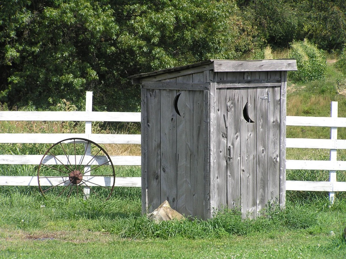 In his youth, Charles built 10–15 outhouses for the man he and his family rented from.