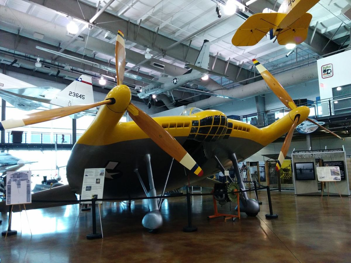 A Vought V-173 at the Frontiers of Flight Museum, Dallas, Texas.