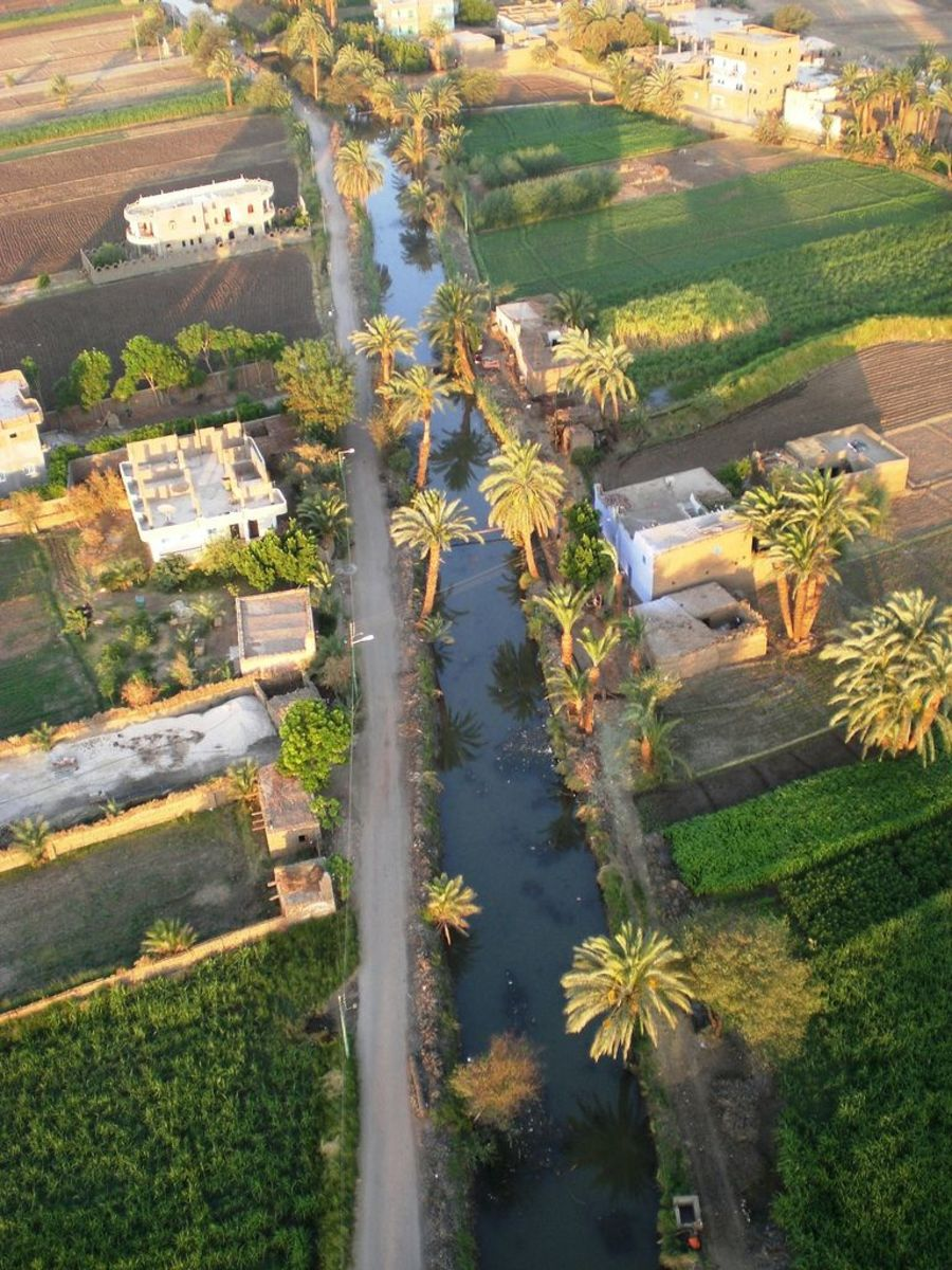 Irrigation canals have always been a vital part of Egyptian agriculture.
