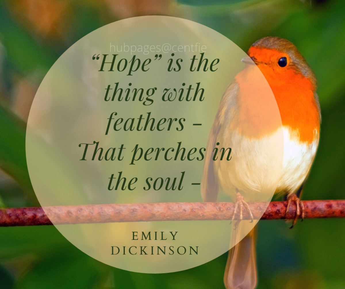 """""""'Hope' Is the Thing With Feathers"""" by Emily Dickinson"""