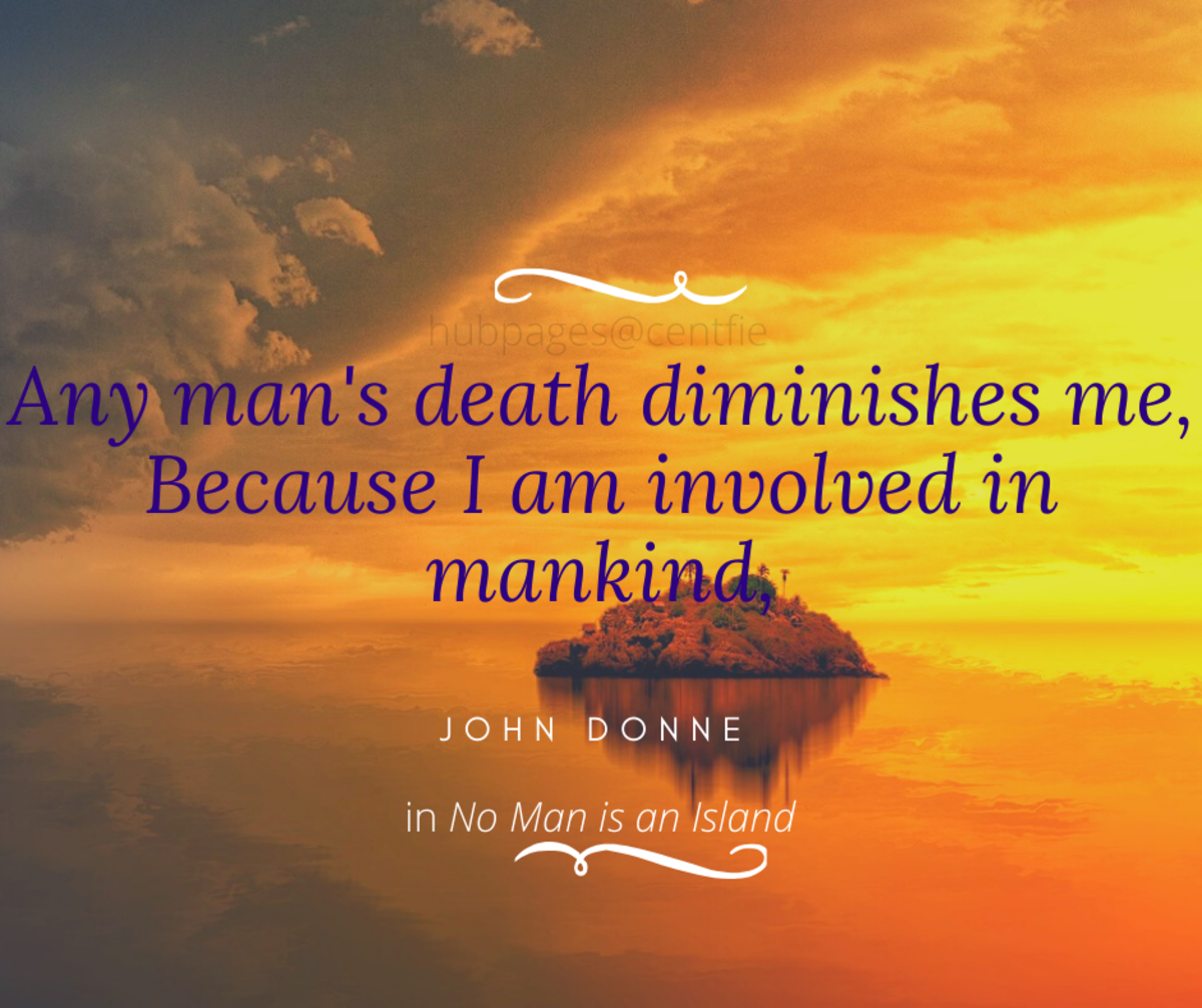 """No Man Is an Island"" by John Donne"