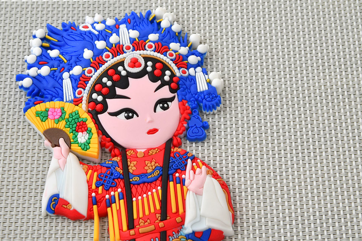 Operatic depiction of Yang Yuhuan. The historical beauty is frequently represented on Chinese travel souvenirs.