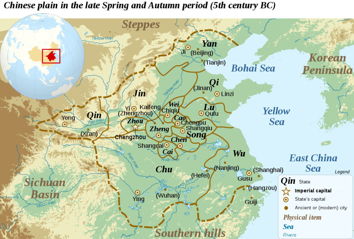 Map depicting the states of the Spring and Autumn Period. Jin was considered one of the most powerful i.e. well-worth killing your stepsons for.