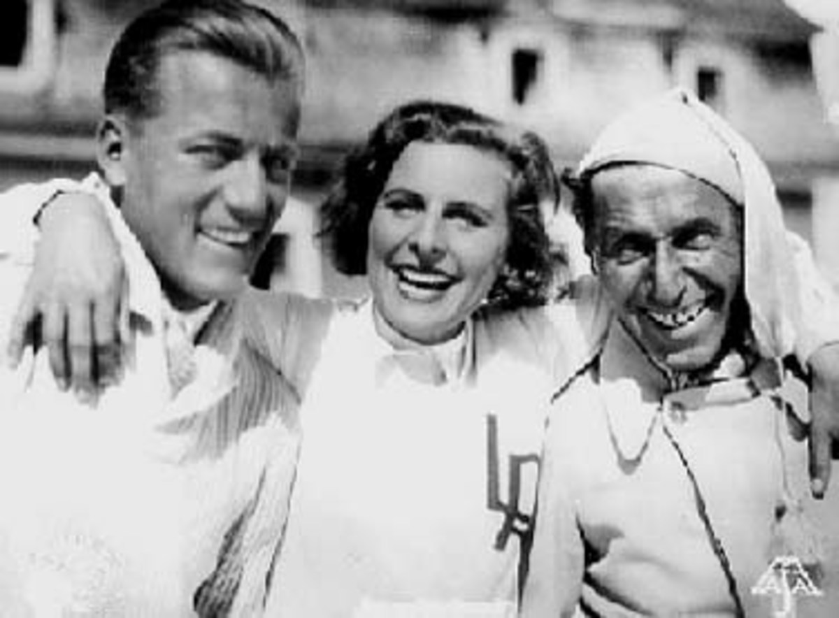 Leni Riefenstahl with Dr. Arnold Fanck
