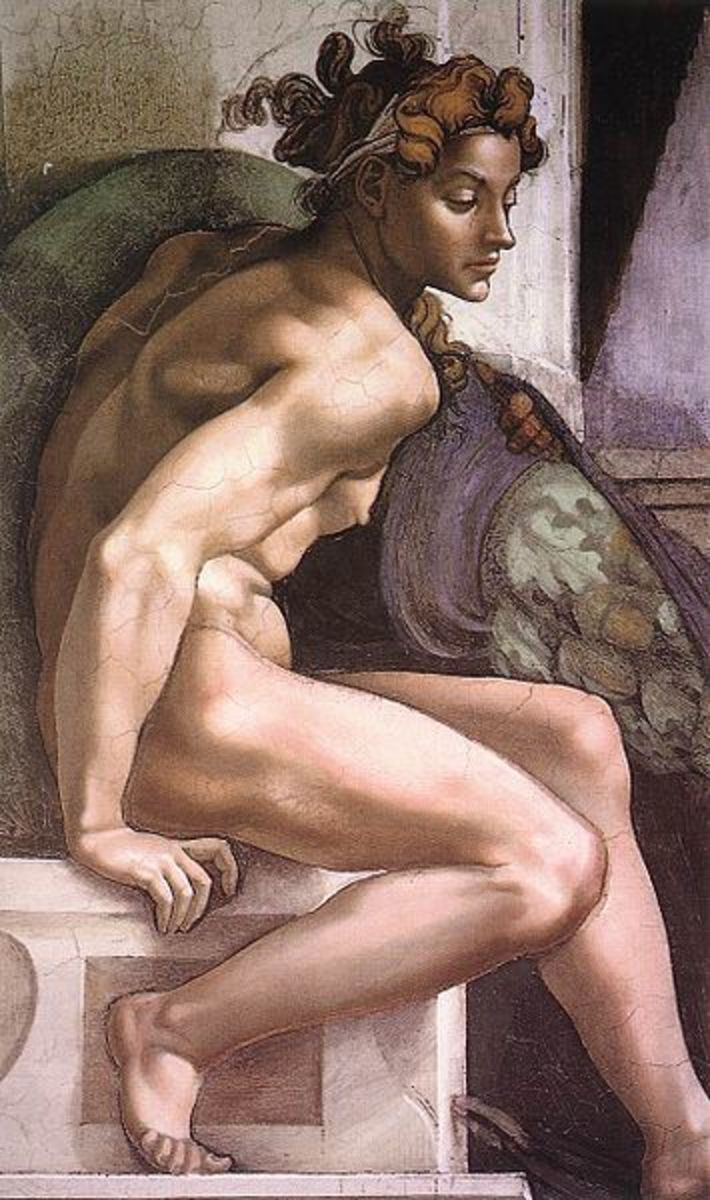 Michelangelo, Ignudo, Ceiling of the Sistine Chapel