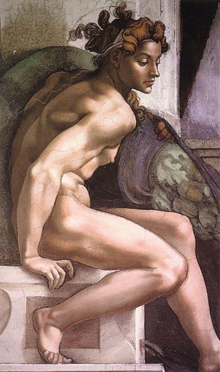 Michelangelo, Ignudo, Ceiling of the Sistine Chapel