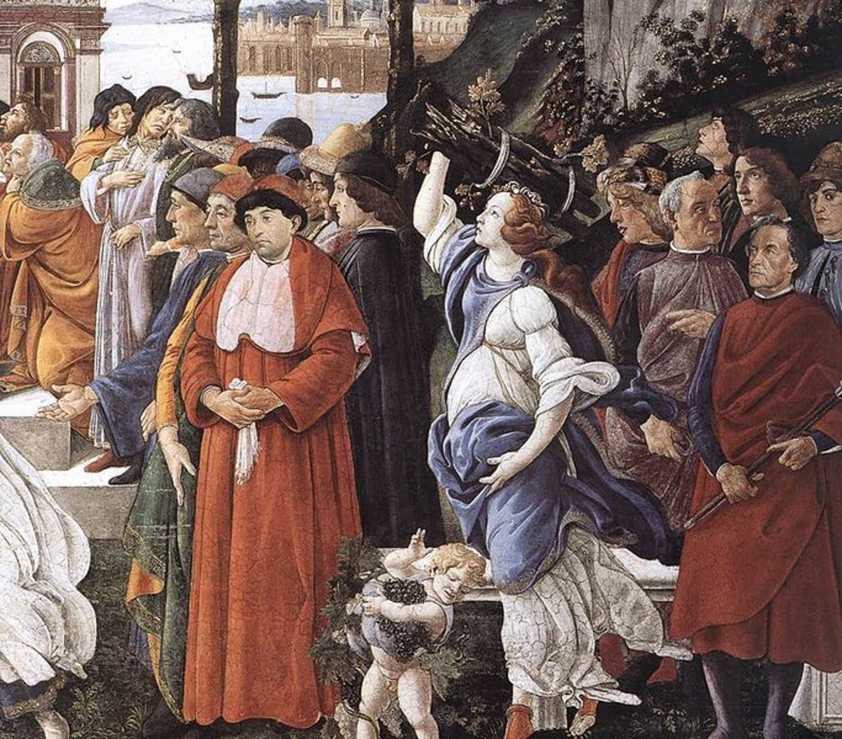 Botticelli, Detail of the Three Temptations of Christ (1481-1483), Sistine Chapel north wall