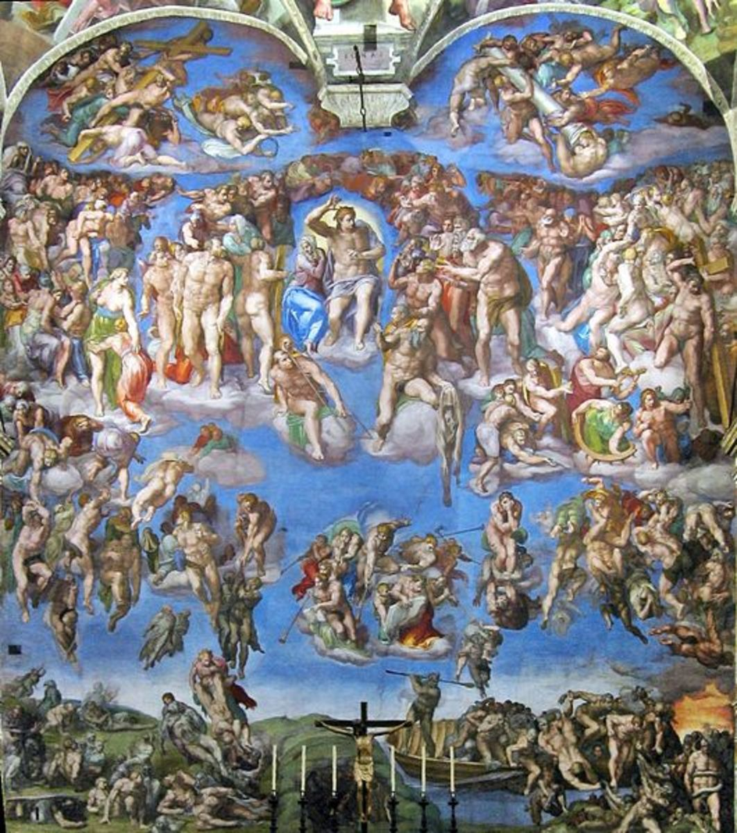 Michelangelo, the Last Judgement (1536-1541), Sistine Chapel altar wall