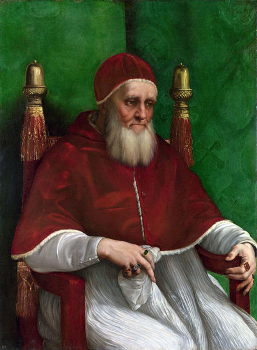 Pope Julius II portayed by Raphael