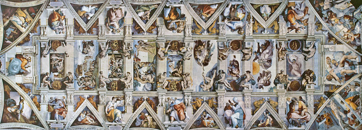 The Ceiling of the Sistine Chapel (1508-1512)