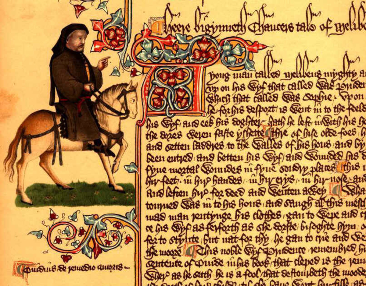 A manuscript of Geoffrey Chaucer's work