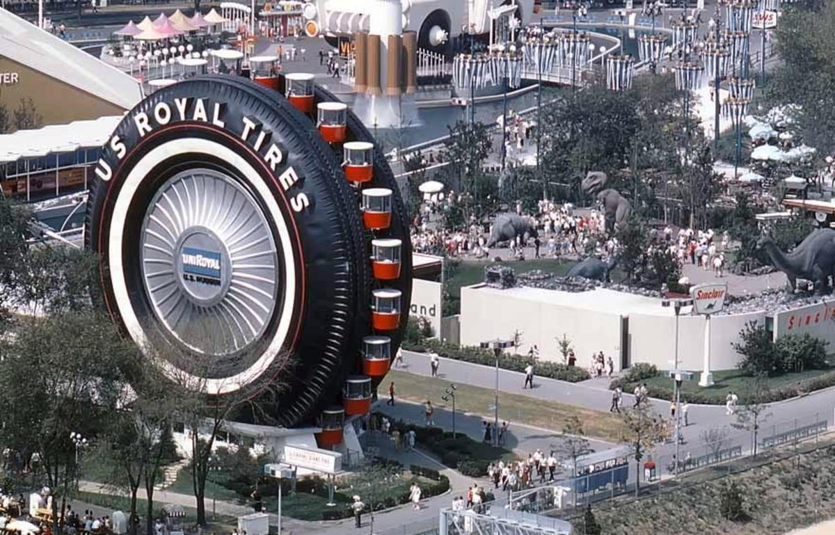 U.S. Royal promoted their brand of tires with this tire shaped Ferris Wheel.