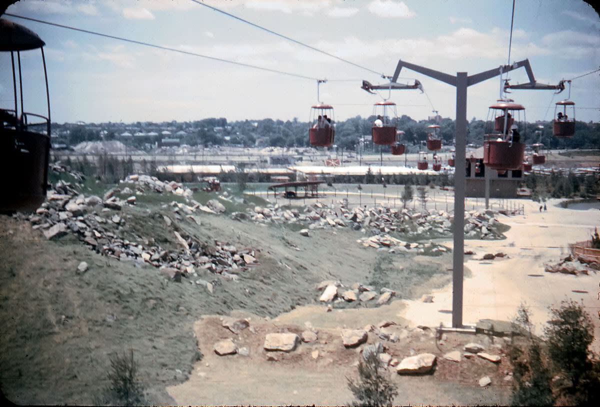 This bucket ride over a recreation of the Rocky Mountains was a direct rip off of an identical ride at Disneyland that crossed over a recreation of the Matterhorn. A lot of the attractions at Freedomland U.S.A. were similar to ones in Disneyland.