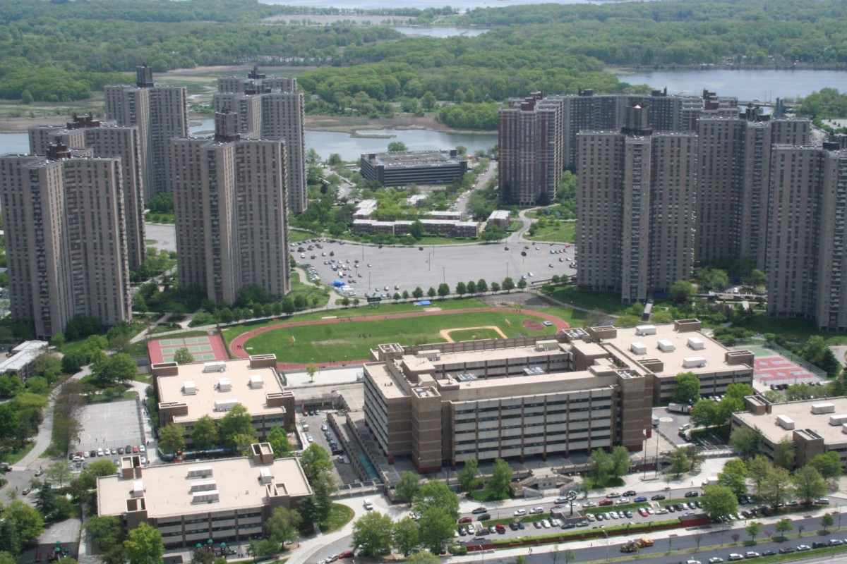 A city built in a swamp, The residential complex Co-Op City. Some believe that this is what developers wanted to build on the property all along.