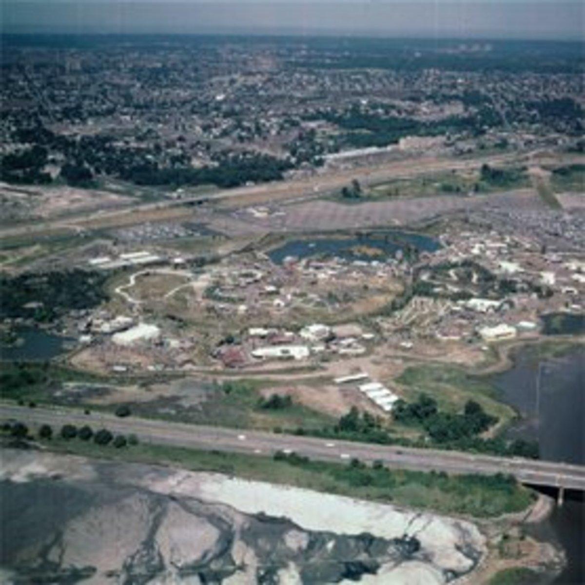 In comparison, a birdseye view of Freedomland U.S.A.