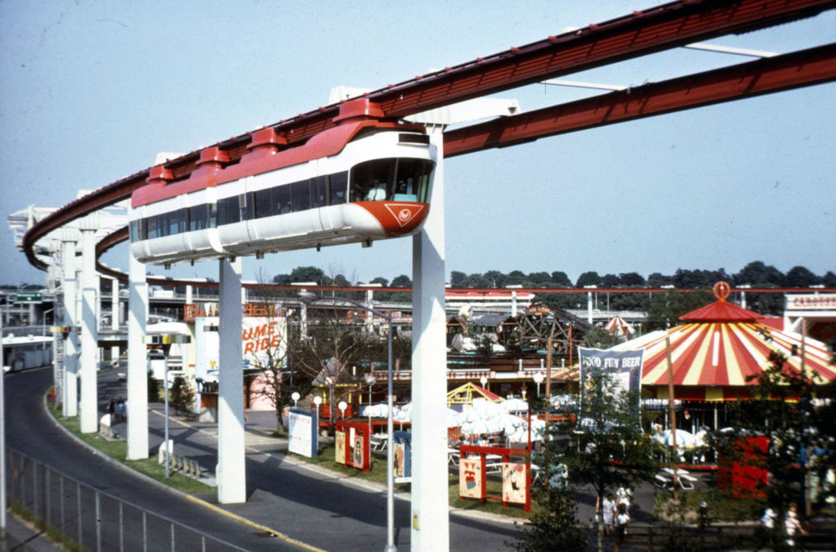And the fair had a monorail. It looped through the lakeside amusement area.