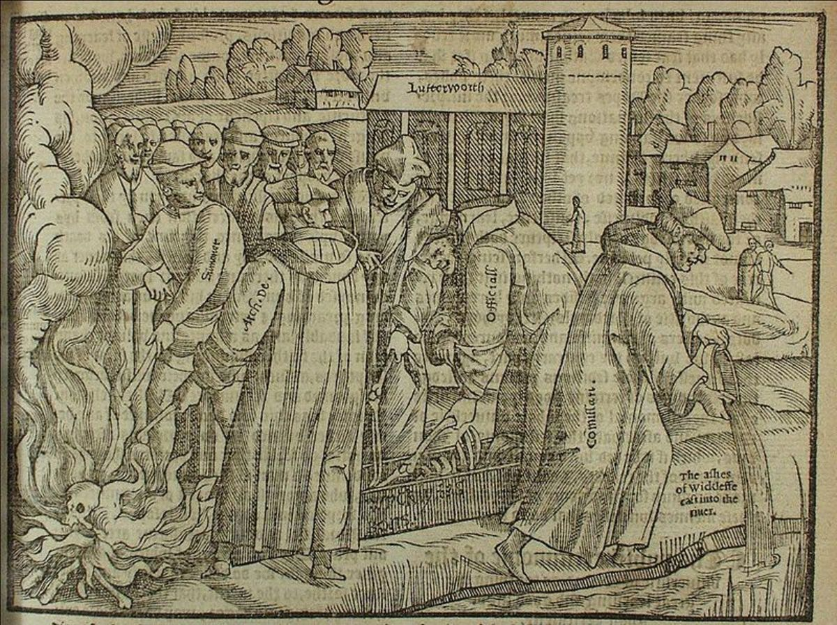 Burning of John Wycliffe's Bones from Foxe's Book of Martyrs