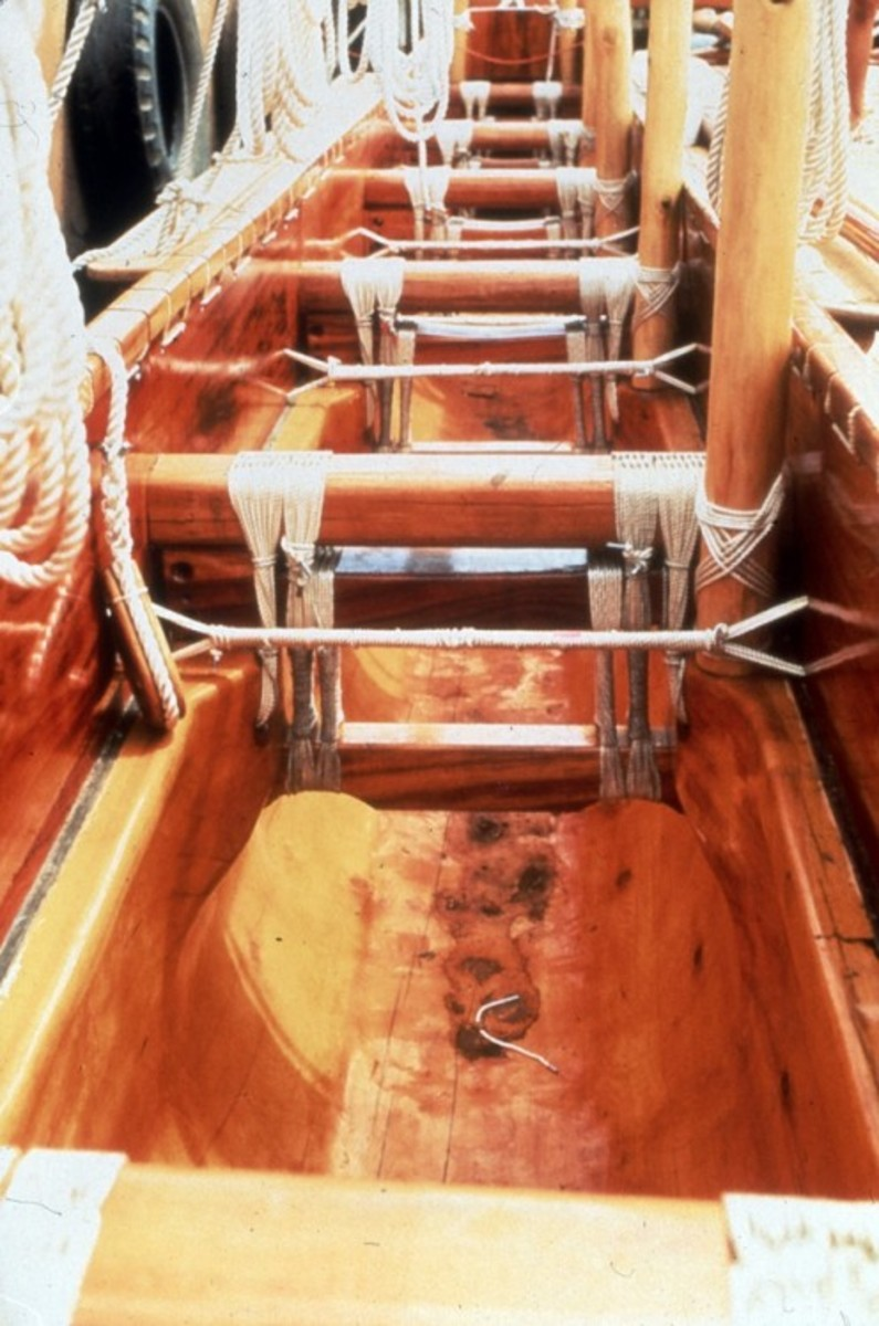 The inside hull of the Hawai'iloa was made from logs gifted by Alaskan natives.
