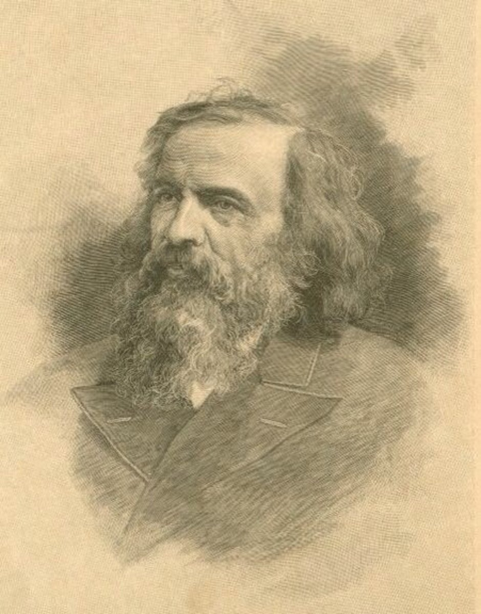 Dmitri Mendeleev is said to be the creator of the periodic table.