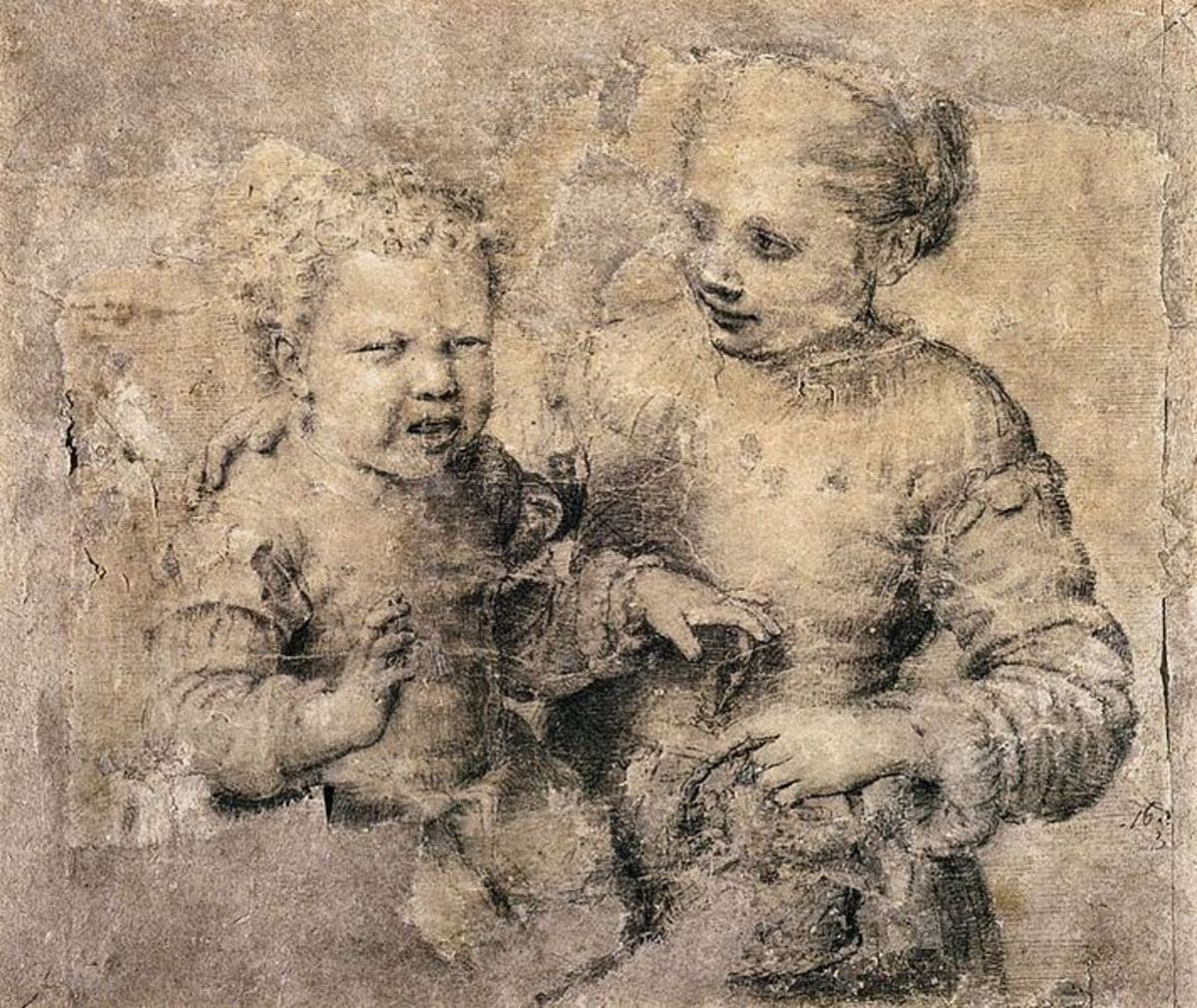 The child bitten by a Crayfish (1555), Naples, Museo di Capodimonte