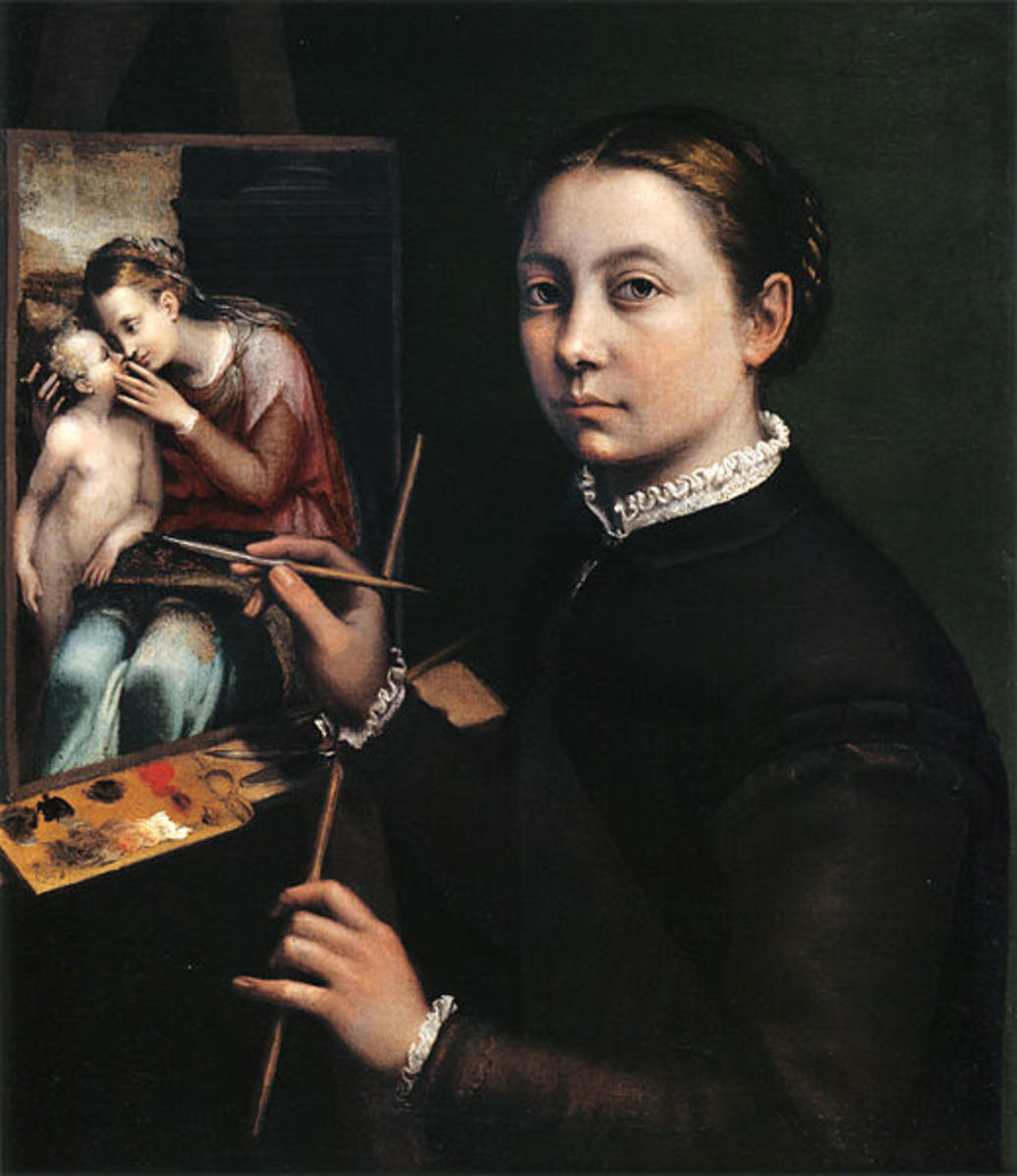Self portrait at the easel (1556), Lancut, Muzeum Zamek