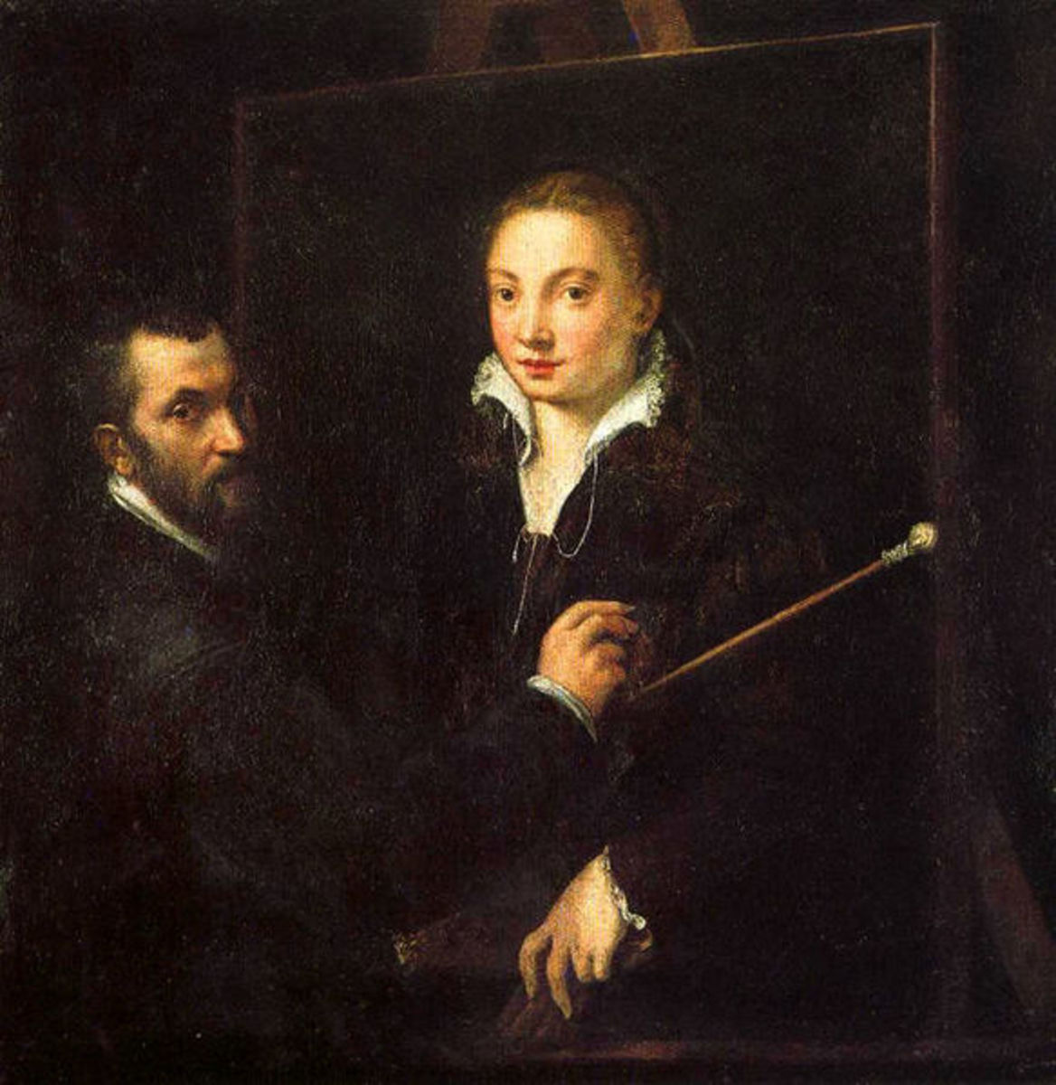 Self Portrait with Bernardino Campi, Siena, Pinacoteca Nazionale