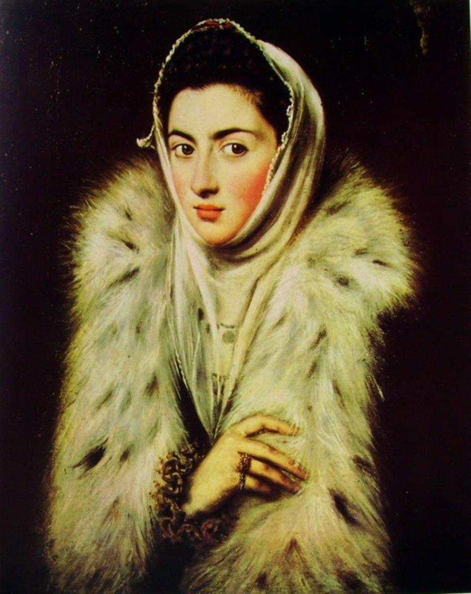 Lady in a fur wrap (1595 ?), Glascow, Pollok House