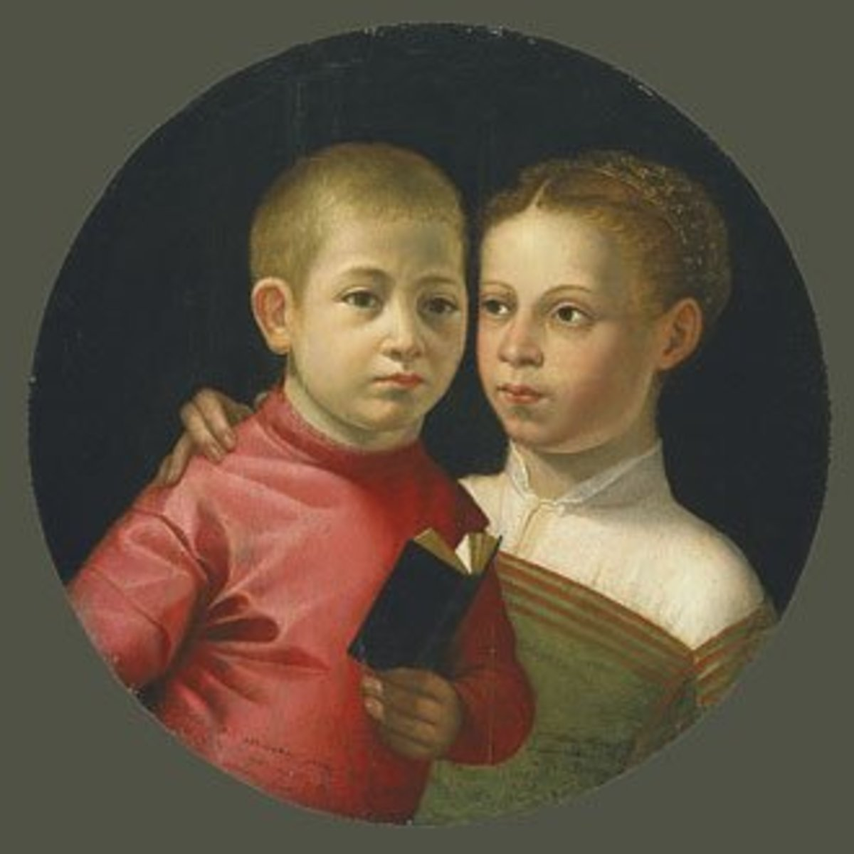 Boy and Girl of the Attavanti family (early 1580s), Oberlin College, Allen Memorial Art Museum - This portrait is one of the few known paintings of the Genoan period