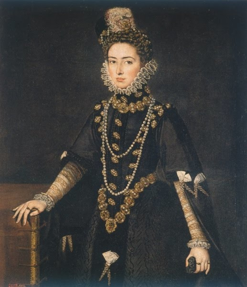 Portrait of the Infanta Catherine Michelle duchess of Savoy (1595), Madrid, Prado Museum