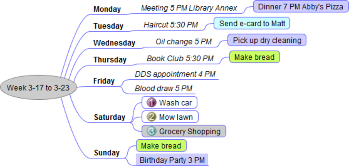 Use maps for schedules at a glance