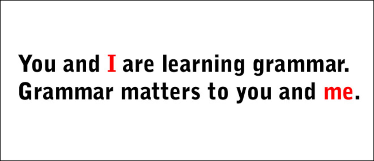 "Translation: ""WE are learning grammar. Grammar matters to US."""