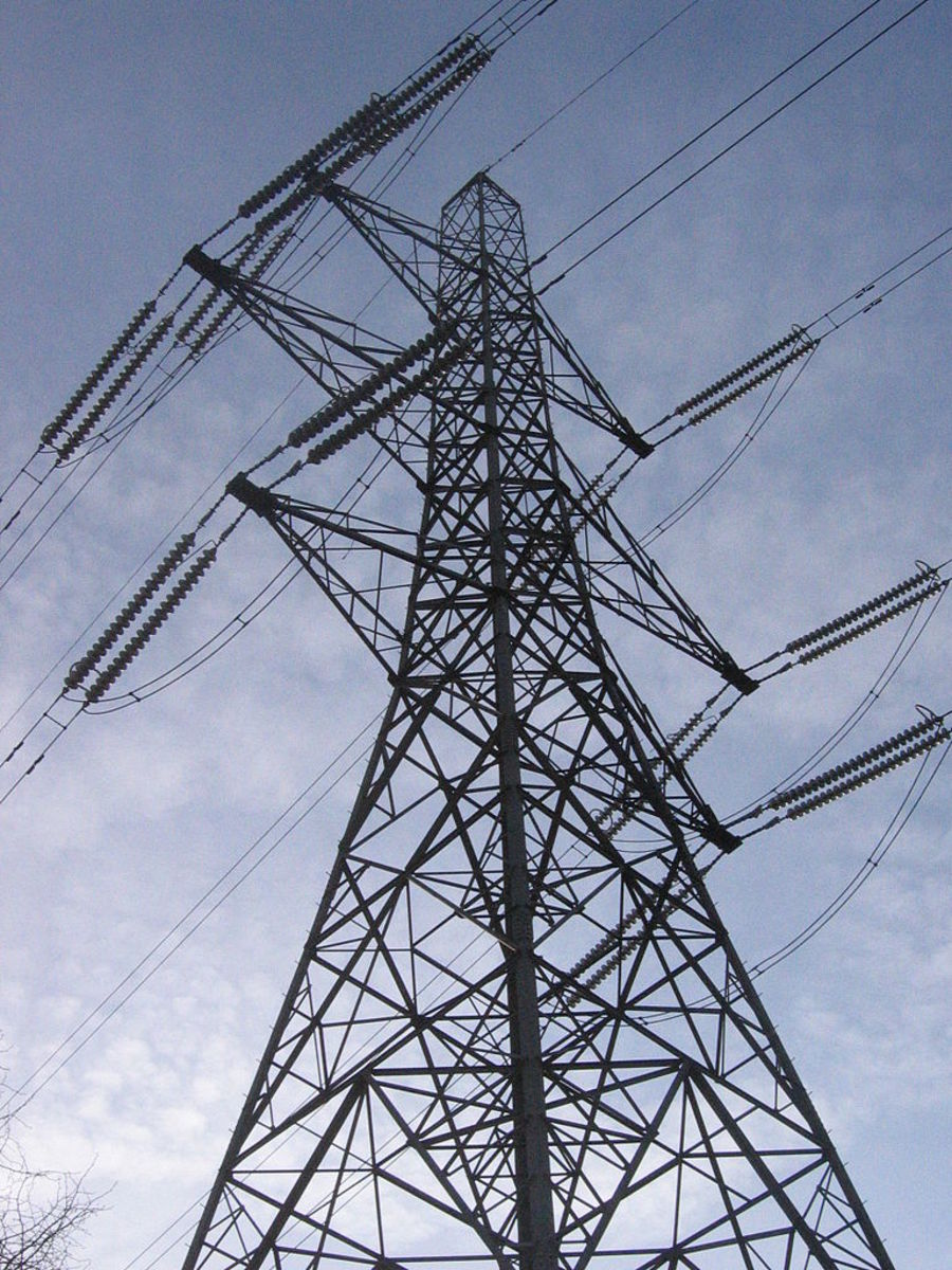 Electric pylon, as seen everywhere, anywhere: roadside to mountaintop.