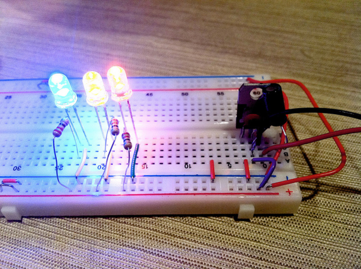 A simple LED circuit.