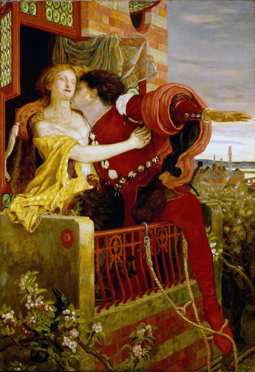 Romeo and Juliet's tryst on the balcony